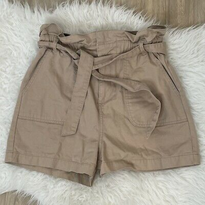 New Look Ladies Safari Vibes Paperbag Waist Shorts Removable Belt Tie Size 12 • 8.99£