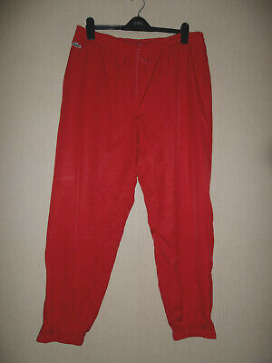LACOSTE Red Track Suit Bottoms - Pants .Large 34 - 38 Waist.Lined.Comfort LOOK • 19.99£