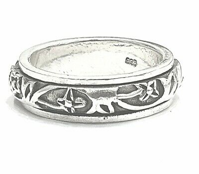 925 Sterling Silver Solid Plain Spinning Thumbs Ladies & Men Ring • 35.42£