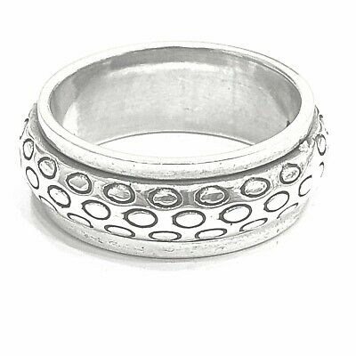 925 Sterling Silver Solid Plain Spinning Thumbs Ladies & Men Ring • 39.55£