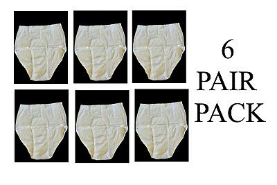 Mens 6 Pack Quality 100% Cotton Y Fronts  Briefs White With Small Print L Xl 2xl • 14.99£