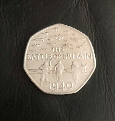 50p 'Battle Of Britain 1940'  Issued 2015 Fifty Pence Coin Hunt - Circulated VGC • 2.35£