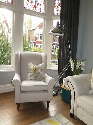 Stone/Neutral/Grey MARKS & SPENCER M&S Wing Back Armchair • 295£