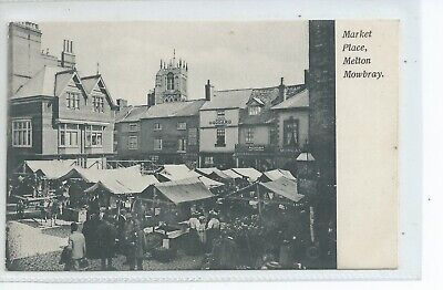 Printed Postcard The Market Place Melton Mowbray  Leicestershire Good Condition • 7.50£