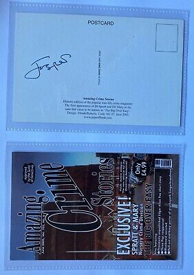 Jasper Fforde Signed Postcard - NC07 - Amazing Crime Stories • 9.99£