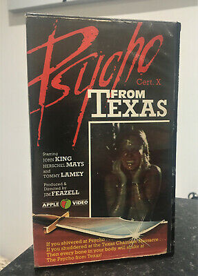 Psycho From Texas Pre Cert VHS Apple Video • 11.50£
