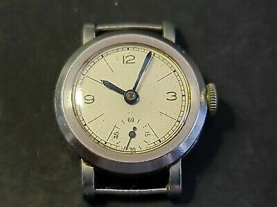 IWC Military Style Watch Head 19 JEWELS 23.6mm Including Crown Running RARE! • 99£