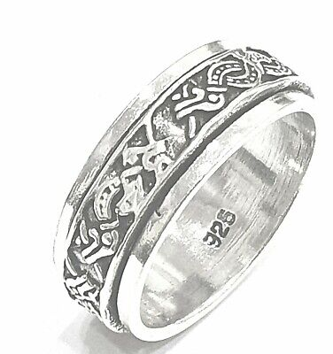 925 Sterling Silver Solid Plain Spinning Thumbs Ladies & Men Ring • 32.22£
