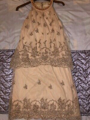 £8 • Buy Monsoon Embroidered Party Cocktail Dress Size 6