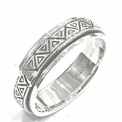 925 Sterling Silver Solid Plain Spinning Thumbs Ladies & Men Ring • 33.33£