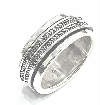 925 Sterling Silver Solid Plain Spinning Thumbs Ladies & Men Ring • 38.04£