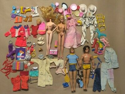 $ CDN25.30 • Buy Huge Lot VTG Barbie & Ken Dolls Clothing Accessories 1960s And Up