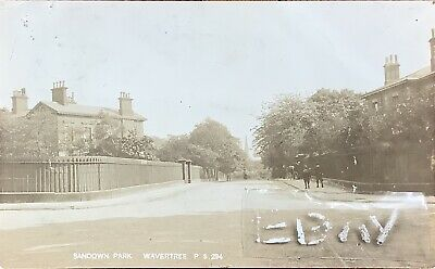 Sandown Park, Wavertree, Liverpool. Real Photographic Postcard. • 18£