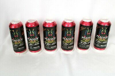$39.99 • Buy Peacock Embroidery Machine Cone Textile Thread LOT OF 6 - Red N1184 SEALED