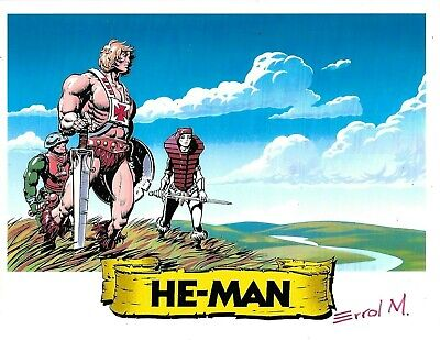 $15 • Buy MASTERS OF THE UNIVERSE He-Man Print Signed Errol McCarthy 8-1/2  X 11