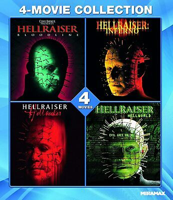 Hellraiser: 4 Film Collection Blu-ray | Doug Bradley | Horror • 24.81£