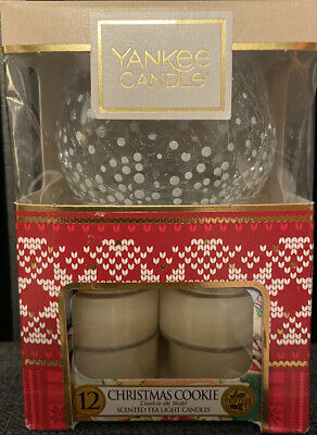 Yankee Candle Tealights And Holder Gift Set In Christmas Cookie Scent • 8.99£