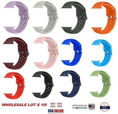 AU46.59 • Buy LOT 10 Silicone Band Strap For Apple Watch IWatch 38/42/40/44m ADJUSTABLE LENGHT