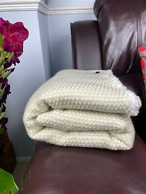 Pure Cashmere Blankets/throws, Handmade In NEPAL - Buttercream • 59.99£