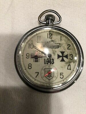 Military Ww 2 German Pocket Watch Just Serviced Great Working Condition  • 99.66£