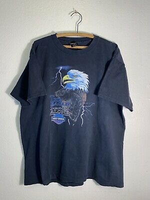 $ CDN14.24 • Buy Vintage HARLEY DAVIDSON Eagle Soars Alone Lightning Size XL T Shirt