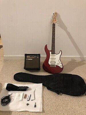 Yamaha Pacifica HSS Electric Guitar, Cherry Red, With Amp And Accessories • 102£