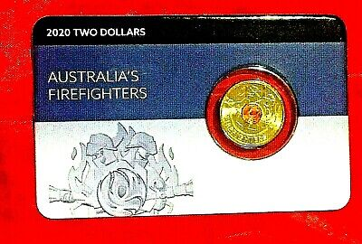 AU18.95 • Buy 2020 $2 Firefighters Two Dollar Coin Unc Australia Rare On Card Fire Fighter