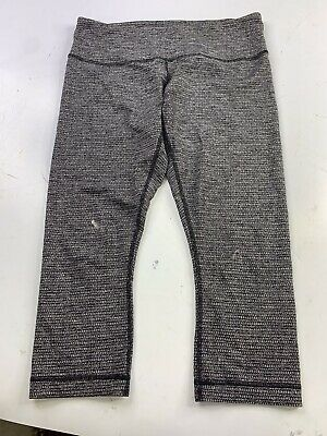 $ CDN12.96 • Buy Lululemon Coco Pique Wunder Under Crop Leggings Size 10