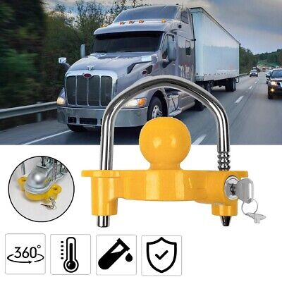 AU20.59 • Buy Trailer Parts Coupling Lock Universal Hitch Tow Ball 2 Keys Caravan Antitheft