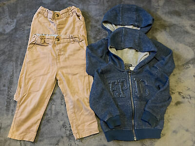 Twins Boys Clothes Bundle 18-24 Months Chinos Trousers Hoodie Primark 4 Items • 8.99£
