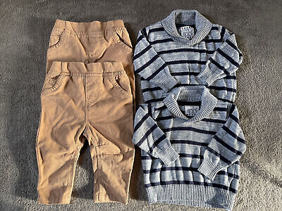 Twin Boys Clothes Bundle Set Chinos Trousers Jumper 0-3 Months Primark • 13.99£
