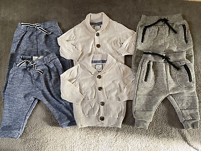 Twin Boys 3-6 Months Baby Clothes Bundle Joggers Cardigan Primark • 14.99£