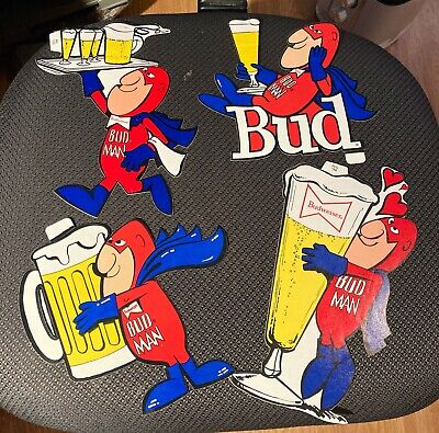 $ CDN19.57 • Buy Budweiser Beer Drinking Bud Man Decals Stickers -- Lot Of 4