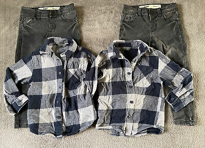 Twin Boy Clothes Bundle Shirt + Jeans 2-3years / 24-36 Month Primark • 12.99£