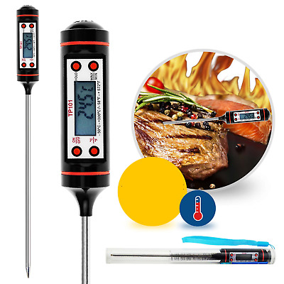 £2.99 • Buy Digital Food Thermometer Cooking Meat Kitchen Temperature BBQ Milk UK FAST POST