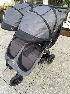 Baby Jogger City Mini GT Double With Two Genuine Foot Muffs & Rain Cover • 199£