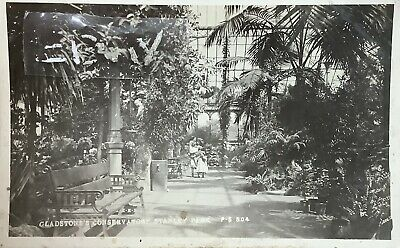Gladstone's Conservatory, Stanley Park, Liverpool. Real Photographic Postcard. • 5£