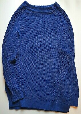 H&M Blue Knitted Slouchy Tunic Long Jumper - Size XS 8 • 1.99£