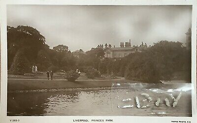 Princes Park, Liverpool. Real Photographic Postcard. • 5£