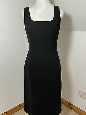 Next Black Fitted Work Dress Size 10 Square Neck Shift VGC LBD • 15.99£