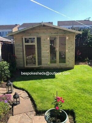 Contemporary Summer House Log Cabin Garden Office Apex Summerhouse Man Cave Shed • 1,640£