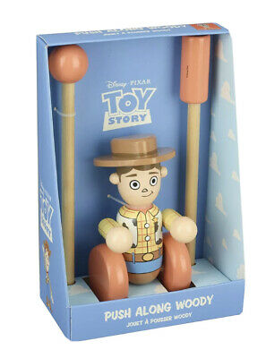Toy Story Woody Boxed Push Along Wooden Toy Baby Christmas Birthday Gift Walking • 21£