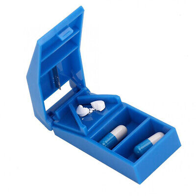 AU9.27 • Buy Pill Storage Compartment Box Case Medicine Holder Tablet Cutter Splitter Car;A!