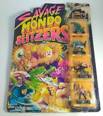 $35.99 • Buy Savage Mondo Blitzers The Dudes Of Disaster 1991 MOC VTG 4 Figure Set Kenner NEW