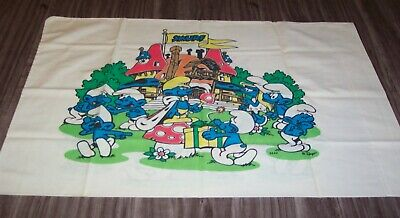Vintage Hanna-Barbera THE SMURFS Pillowcase Pillow Case 1980's Jcpenny 80's • 18.12£