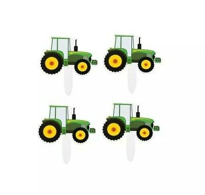 AU11.95 • Buy 24pk Tractor Farm Cupcake Cake Toppers Happy Birthday Party Supplies