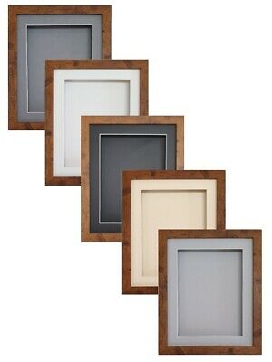 3D Box TEAK BROWN RECTANGLE Picture Photo Art Medals Scrabble Lego Display Frame • 14.99£