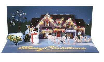 New Pop-Up & Light Up Twinkle Lights Panoramic Christmas Card • 9.99£