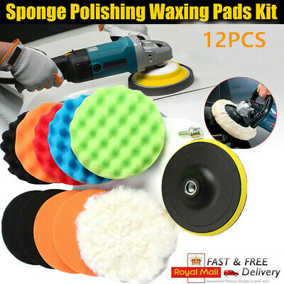 12x 6  Car Polisher Gross Polish Pad Buffer Waxing Buffing Polishing Sponge Pads • 12.29£