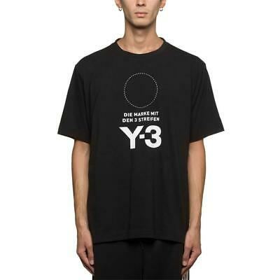 Mens Y3 Stacked Logo T-Shirt Black/White (Y3A1) RRP £119.99 • 59.99£
